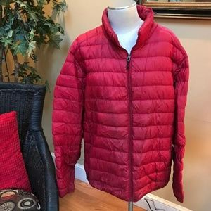 Red Puffer Coat Size XXL